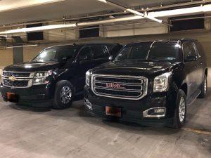 Black SUVs