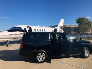 limo service for private jets at Illinois airports