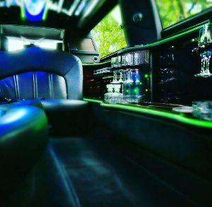 wedding limo interior