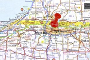 map of south bend in for limo