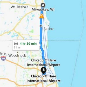 limo from o'hare to milwaukee