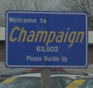 Limo sign Champaign Illinois