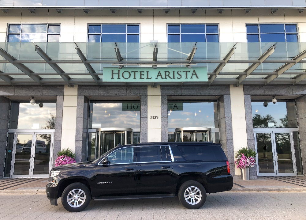 Limo service for Hotel Arista in Naperville