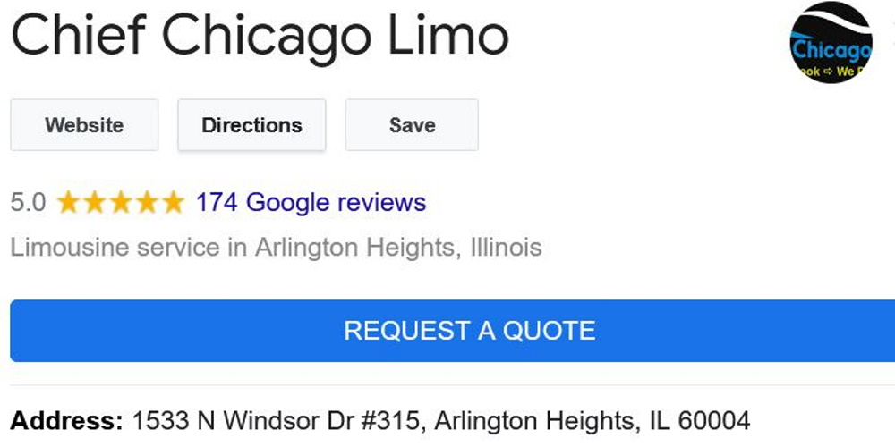 Chief-chicago-limo-reviews-google-arlington-heights