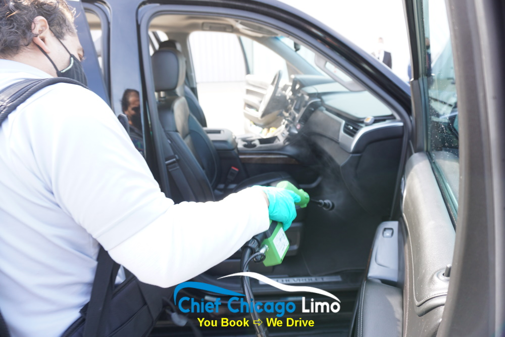 suv-passenger-seat-disinfection-limo-service-chicago