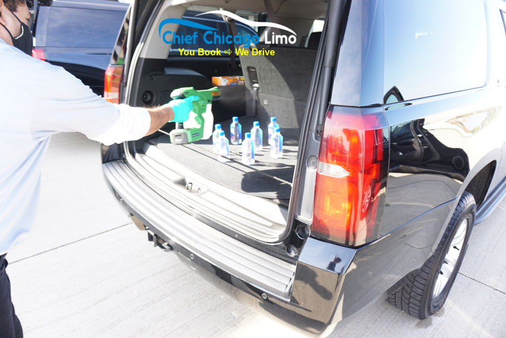water-bottle-disinfection-for-covid19-in-chicago-limo-company